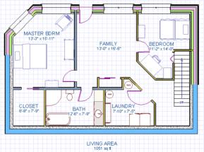 Naugler House Lower Floor Plan